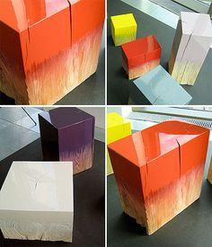 painted wood blocks