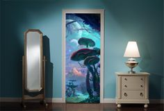 Door Mural Fairy tale Enchanted Forest View Wall Stickers Decal Wallpaper 212 in Home, Furniture & DIY, DIY Materials, Wallpaper & Accessories | eBay