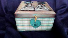 Decoupage Box Jewelry wooden Box Box for girls all star converse box Decoupage furniture Vintage Box wooden box handpainted box keepsake box