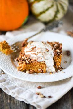 Pumpkin Spice Baked Oatmeal - Apple of My Eye
