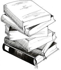 Blank Open Book Sketch