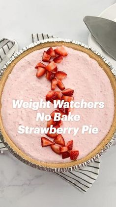 Quick Easy Desserts, Low Carb Desserts, Just Desserts, Weight Watchers Food Points, Weight Watchers Desserts, Healthy Dessert Recipes, Healthy Desserts, Hungry Girl Recipes, Strawberry Dessert Recipes