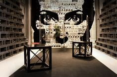 Sunglasses store ... cinder blocks are used as wall display fixtures ... #cool #design #retail #interior #store