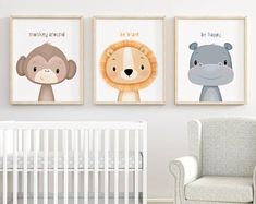 Safari nursery wall art Set of nursery prints Animal nursery Safari Nursery, Nursery Prints, Nursery Wall Art, Nursery Decor, Animal Nursery, Elephant Nursery, Nursery Neutral, Neutral Nurseries, Art Wall Kids