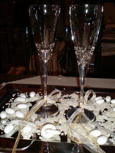 Στολισμός γάμου κωδ.014 Flute, Champagne, Dream Wedding, Wedding Ideas, Tableware, Dinnerware, Tablewares, Flutes, Place Settings