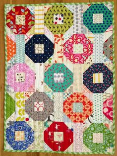 """via Two Little Banshees -- love the fabric combinations with all the """"neutral"""" tones in the background"""