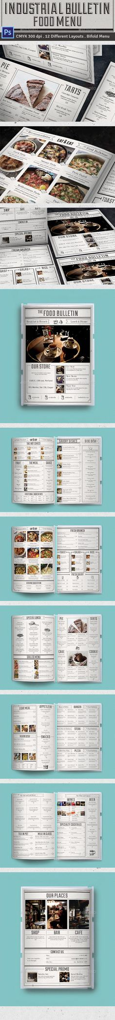 Bulletin Food Menu Template PSD #design Download: http://graphicriver.net/item/bulletin-food-menu/14330331?ref=ksioks
