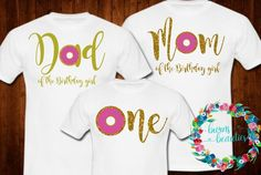 birthday outfit Sweet One Donut Birthday Family Shirts! Perfect for that Birthday Party. Personalization is Free! You can change the words and personalize the set. Fill in whatever 1st Birthday Party For Girls, Birthday Presents For Girls, Girls Birthday Party Themes, 1st Birthday Shirts, First Birthday Outfits, Birthday Ideas, Birthday Table, Family Shirts, First Birthdays