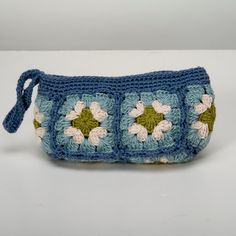 Granny Square Wristlet by bythesoundingsea on Etsy, $16.00