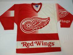 Detroit Red Wings Starter Jersey Alternate Vintage NHL Hockey Rare Mens  Medium Army Hockey ee93052fa