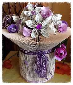 Folded Book Vase by AngelHeartKeepsakes on Etsy