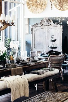 Hampton Furniture, Furniture Decor, Belgian Style, Dash And Albert, Interiors Online, Muted Colors, The Hamptons, Tablescapes, Indoor