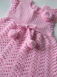 Como hacer vestidos a crochet para niñas06