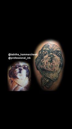 Memorial tattoo #dog #tattoo #BalckAndGrayTattoo