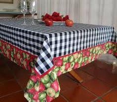 Resultado de imagen para toalha de mesa com barrado patchwork