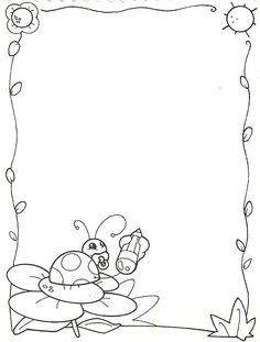 Marcos Infantiles Para Colorear AZ Dibujos