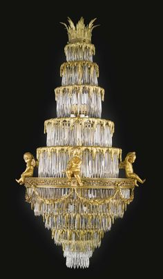 ATTRIBUTED TO CRISTALLERIES DE BACCARAT A GILT-BRONZE AND CUT CRYSTAL TWENTY FOUR LIGHT CHANDELIER FRANCE, LATE 19TH CENTURY