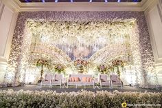 Saweri and Yessica's wedding reception Wedding Stage Design, Wedding Reception Backdrop, Wedding Stage Decorations, Wedding Spot, Bali Wedding, Wedding Venues, Backdrop Decorations, Perfect Wedding, Backdrops