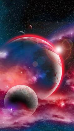 Parallax Weather Live Wallpaper For Android Outer Space Wallpaper, Space Iphone Wallpaper, Planets Wallpaper, Photo Wallpaper, Galaxy Wallpaper, Wallpaper Backgrounds, Beautiful Wallpaper, Fantasy Landscape, Fantasy Art