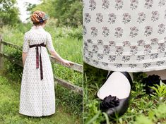 History of block-printed cotton in Georgian & Regency Era Europe. Printed muslins in costume period dramas, fabric museums, reproduction historical textiles Regency Dress, Regency Era, Historical Costume, Historical Clothing, Clothing Blogs, 1800s Fashion, Steampunk Fashion, Ladies Fashion, Gothic Fashion