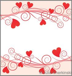 vector red hearts grafic frame on white background     http://www.tpt-fonts4teachers.blogspot.com/2013/01/san-valentines-day-free-clip-arts.html