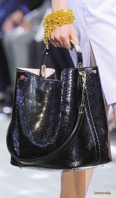 Dior ~ Black Leather Tote