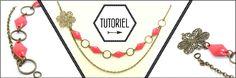 Mon bijou facile: Collier Estampe et sequins émaillés losanges