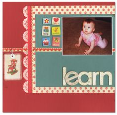 Learning to Crawl - Scrapbook.com - #scrapbooking #layouts #baby
