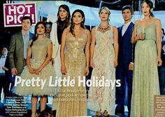 As seen in Us Weekly, actress Troian Bellisario, who plays #SpencerHastings from #PrettyLittleLiars, Looks beautiful in this Mist Green Beaded Blouson Gown by Adrianna Papell. #PLL #gown #celebstyle