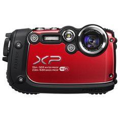 Fujifilm FinePix XP200 16MP Digital Waterproof Camera with 3-Inch LCD (Red)
