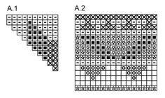 Gehaakte DROPS tas met kleurenpatroon van 2 draden