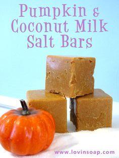 pumpkin coconut milk salt soap