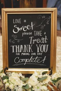 Cute Wedding Signs Inspiration for your reception dessert bar. Click through to the blog for more adorable signs - everything from ring bearer or flower girl signs to food and reception signs! Super creative, funny and sweet ideas. | wedding signage | ideas | planning | frames | wooden signs | chalk board signs | www.templesquare.com/weddings/blog