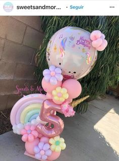 Girl Birthday Themes, Unicorn Birthday Parties, Unicorn Party, Birthday Balloon Decorations, Birthday Balloons, Birthday Party Decorations, Balloon Gift, Balloon Garland, Balloon Bouquet Delivery