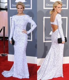 Always gorgeous Carrie Underwood at the Grammys 2012.  She's definitely not in Checotah anymore!!  =)