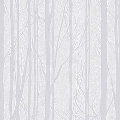 Craig & Rose Trees White Wallpaper | Departments | DIY at B&Q