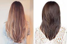 Стрижка лисий хвост на длинные волосы фото