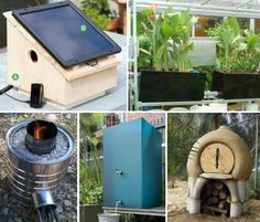 14 Off-Grid Projects for Energy and Water Usage. DIY solar water and air heating, solar cooking options, grey water usage etc