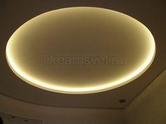 светодиодная подсветка потолка - круг