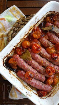 Ragú de salchichas al horno de Jamie Oliver