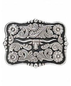 Snap Fastenings for Western Cowboy Buckles Eagle Embossed Grey Leather Belt