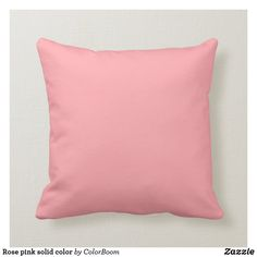 Rose pink solid color throw pillow Pink Throws, Pink Throw Pillows, Colorful Pillows, Decorative Throw Pillows, Pink Cushions, Pink Home Decor, Great Gifts For Men, Custom Pillows, Girl Bedrooms