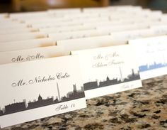Washington DC Place Card Skyline Handmade by ShannaMicheleDesigns
