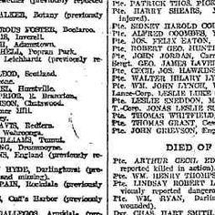 15 Jul 1917 - AUSTRALIA PAYS ANOTHER CASUALTY LIST ISSUED 870 ... Lest We Forget, Military History, Wwi, Warriors