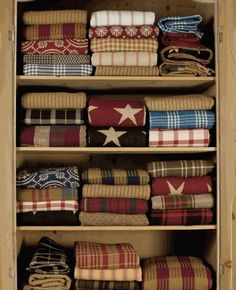 Beautiful display of Woven Coverlets