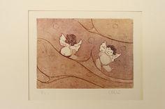 "Engraving "" little angels"", by allerimstudio on Etsy"
