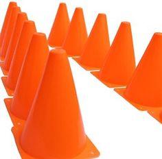 Amazon.com: Dazzling Toys Pack of 12 7 Inch Orange Plastic Traffic Cones: Toys & Games