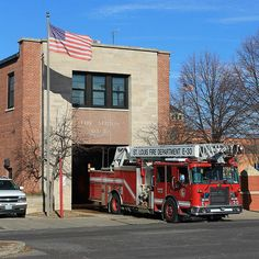 An American Icon, the local Fire Station stands as a reminder of service to community, and courage in adversity.  The firefighters in this one engine station stand ready to come to the aid of locals in emergency, but on this sunny day the scene is peaceful - almost restful as the flag flutters in the breeze, and it seems that all is well in the world.