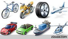 Icon set - Vehicles Icons - Zizaza item for free