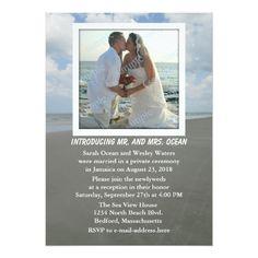 Photo Wedding Reception Reception Only Beach Theme Wedding Party Invites